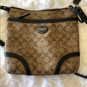 Coach | Crossbody signature coated canvas, brown